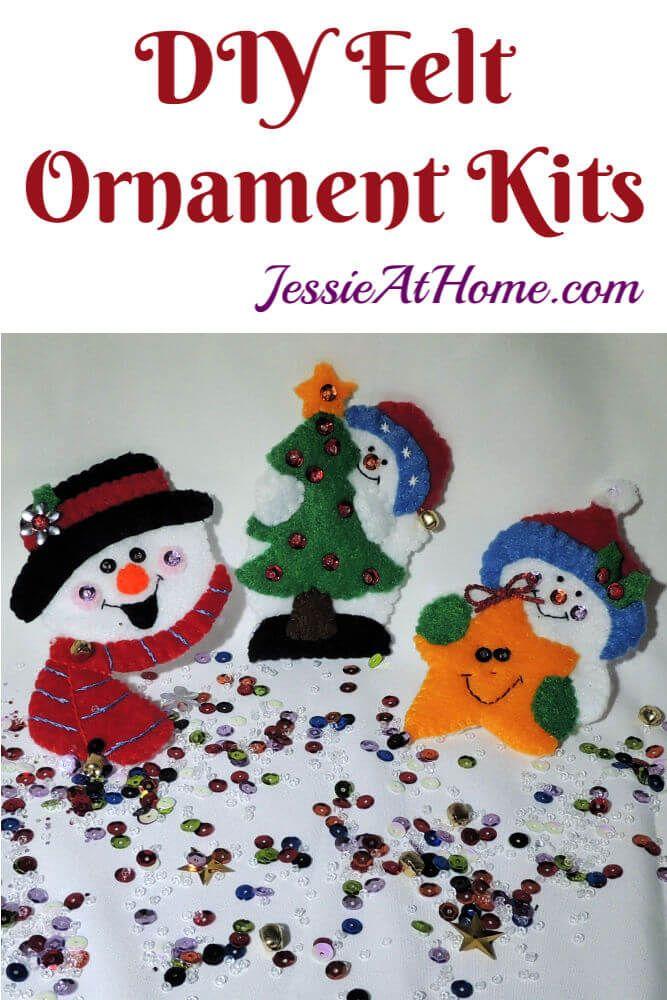 Diy Felt Ornament Kits Bring On The Snow Felt Ornaments Diy