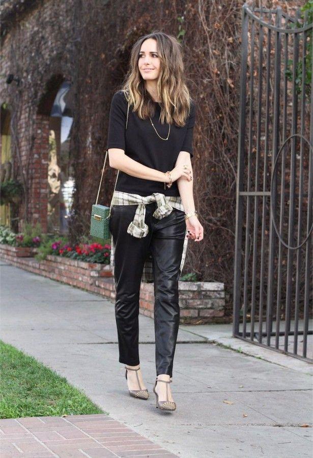 Будьте в тренде! Образы с кожаными брюками 2
