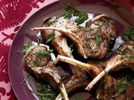 Lamb Chops with Frizzled Herbs