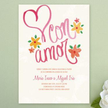 Bilingual DIY Amor Wedding Invitation