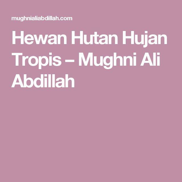Hewan Hutan Hujan Tropis – Mughni Ali Abdillah