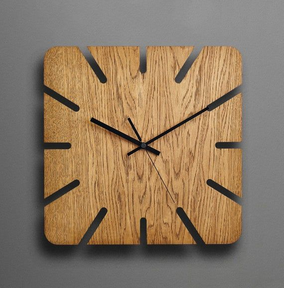 Wood Wall Clock Modern Wall Clock Unique Wall Clock Rustic Etsy Wall Clock Wooden Diy Clock Wall Wood Wall Clock