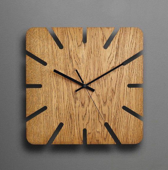 Wood Wall Clock Modern Wall Clock Unique Wall Clock Rustic Wall