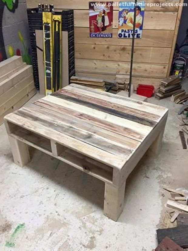 Recycled Pallets Coffee Table Pallet Ideas Pinterest
