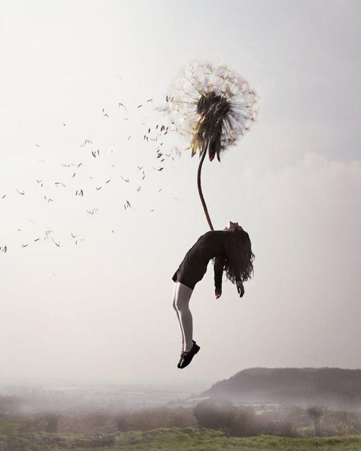 Картинка девушка парит в воздухе