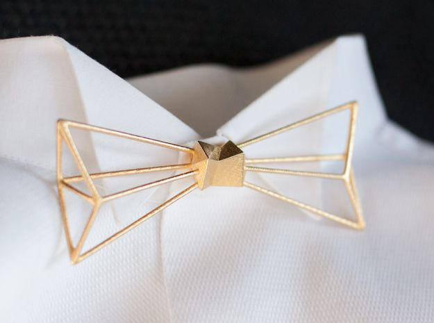Gold plated stainless steel Bow Tie!