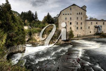 Old Mill Elora Ontario Canada along river