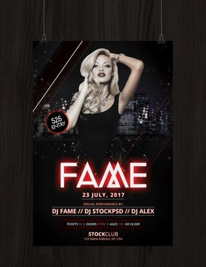 Flyer Templates For Photoshop Free Fame Download Free Psd In 2020 Photoshop Flyer Template Photoshop Flyer Free Brochure Template