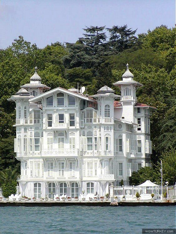 The Afif Ahmet Pasa Yali, in Yenikoy, Turkey, is a 5-storey, steepled neo-baroque mansion built by French architect Alexandre Vallaury - Mystery writer, Agatha Christie, was one of its most famous guests. Photo by Kemal Bereket