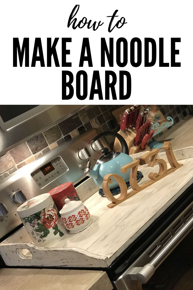 On this video I show you how to make your own noodle board. Easy DIY steps to building a noodle board. This beautiful distressed farmhouse decor is easy to make and looks great in the kitchen.