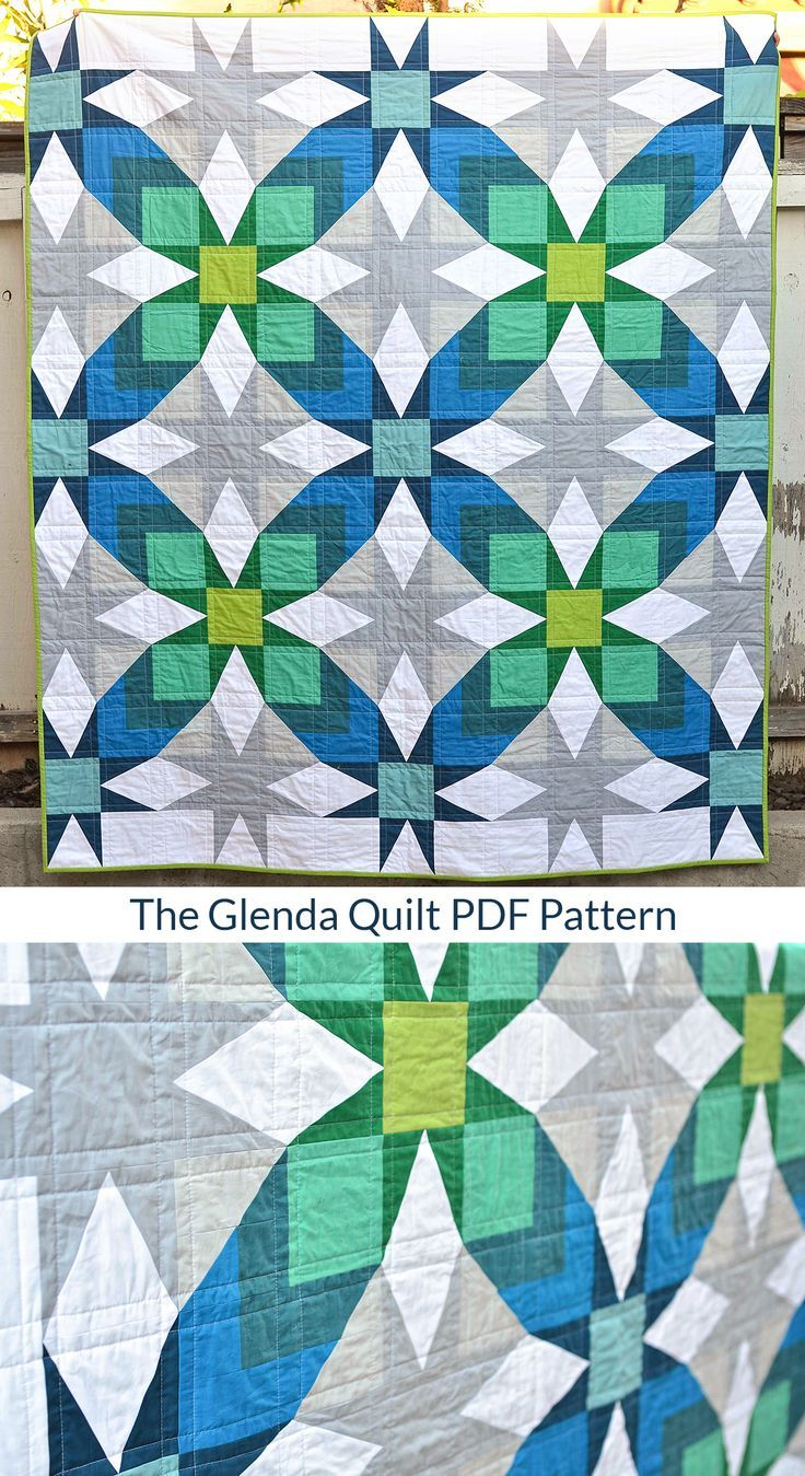 Secondary patterns in this modern quilt is stunning