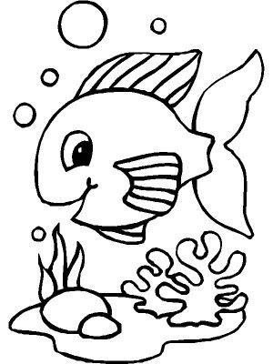 dibujos para colorear de peces del mar - Buscar con Google