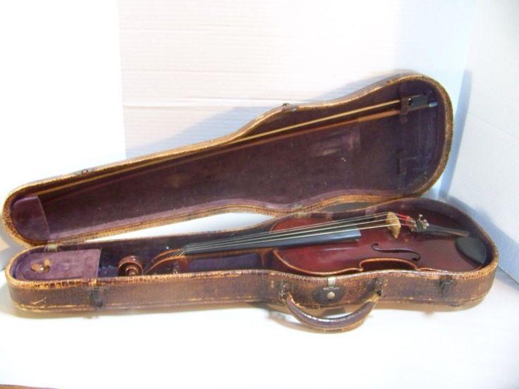 Vintage Antonio Stradivarius Violin Bow Germany Vaux Alligator Case C 1930'S…
