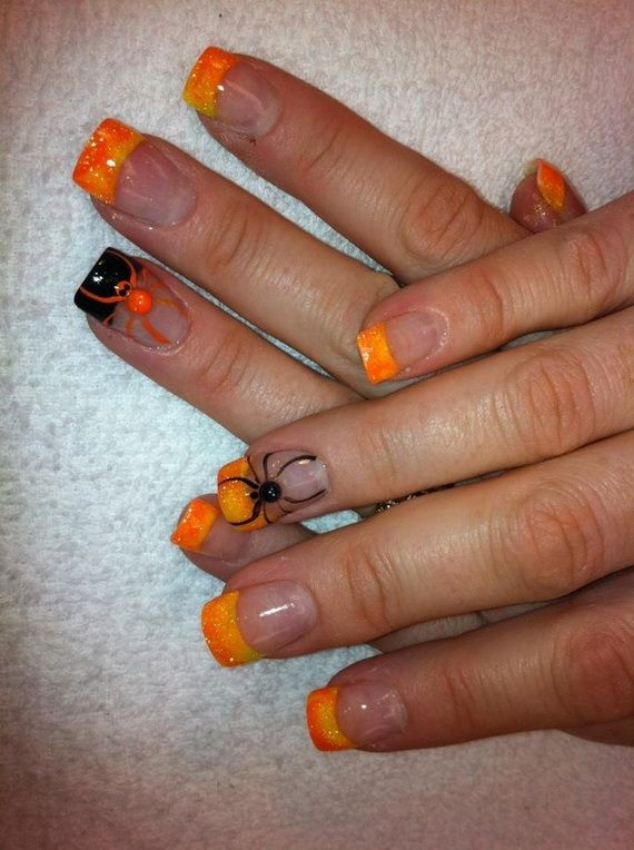Gorgeous Ghastly Halloween Nail Art Designs (14)