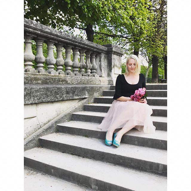 Sally Bay -model -tulle -paris -france -heels -mint -wittner -roses -pink -styling -travel -gardens -scenic   Instagram: @sally_bay  Website: www.sallybay.com.au