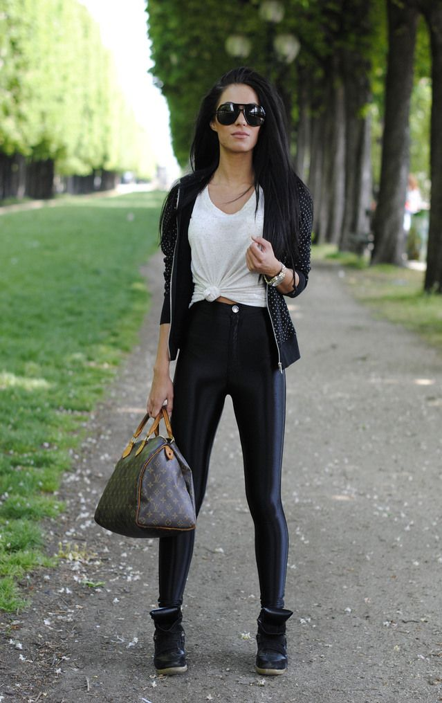 Hoodie – C/O Uniqlo Gucci Sunglasses – C/O Sunglasses Shop  Tee- Primark  Disco Pants – Missguided  Bag – Louis Vuitton &nbsp…