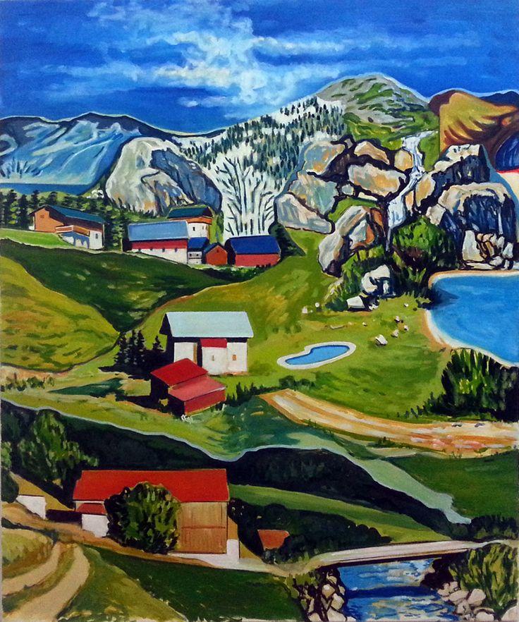120x100cm,  Oil on Canvas, 2016 #Art #Oil #Trekking #cotroneo