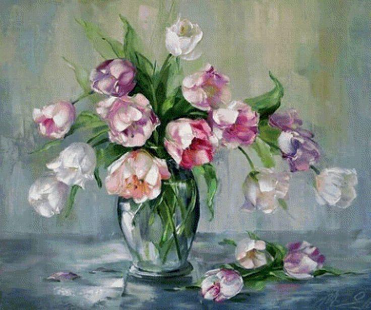 tulipány - Схемы вышивки - he4lin6da - Авторы - Портал «Вышивка крестом»