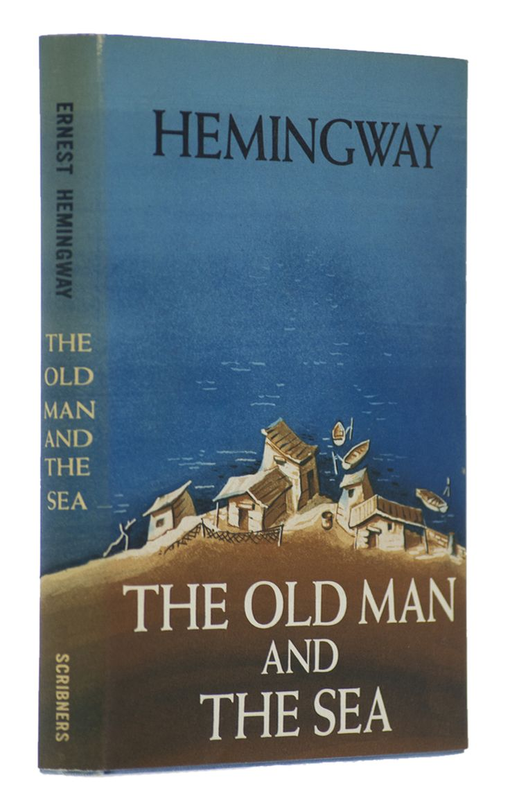 The Old Man and the Sea (1952). Ernest Hemingway (1899-1961).     Story centers upon Santiago, an aging fisherman who struggles with a giant marlin far out in the Gulf Stream. Awarded the Pulitzer Prize for Fiction in 1953 and was cited as contributing to the awarding of the Nobel Prize in Literature to Hemingway in 1954.    A book that is so strikingly simple, elegant, beautiful, and yet so powerful it resonates with the truth.