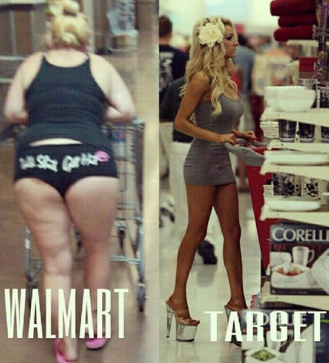 Walmart vs Target - Funny Pictures at Walmart