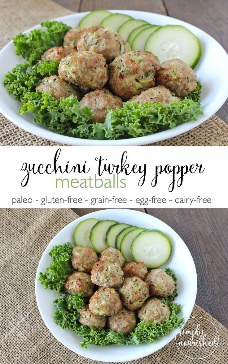 Zucchini Turkey Meatballs -- a freezer-friendly recipe and an easy way to sneak in veggies.