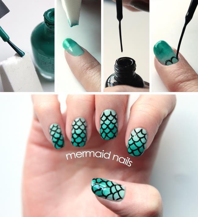 30+ Classic Mermaid Nails art ideas--> http://wonderfuldiy.com/30-classic-mermaid-nails-art-design/ #diy #nailar