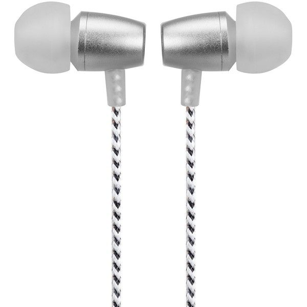 iHome White/Silver Allure In-Ear Noise Isolating Earbuds ($9.97) ❤ liked on Polyvore featuring accessories, tech accessories, white, apple iphone earbuds, iphone smartphone, samsung galaxy earbuds, ihome and samsung galaxy smartphone