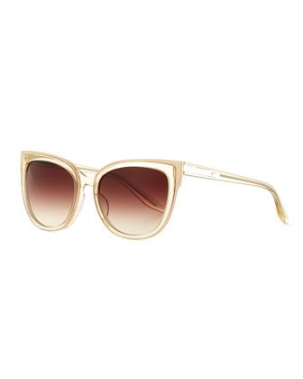 Winette+Gradient+Cat-Eye+Sunglasses,+Neutral+by+Barton+Perreira+at+Neiman+Marcus.