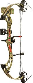"""PRECISION SHOOTING EQUIP 16 Fever RTS Package Mossy Oak Infinity Camo RH 25"""""""" 60#, EA"""