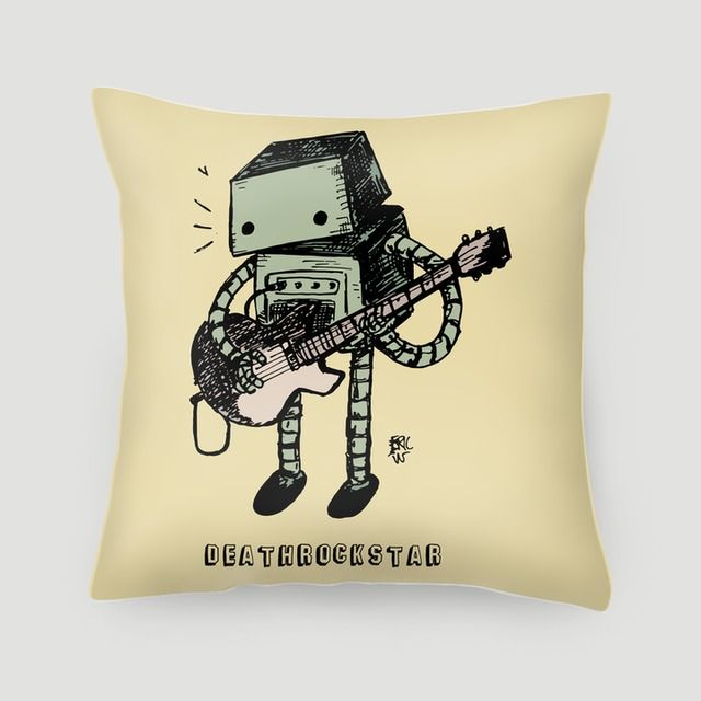 Pillow 40x40 cm (with insert) | Perfection as an indie guitarist Deathrockstar merchandise #pillows #cushions #arts #prints #etsy #artwork #gift #design #home #decor #love #interior #trends #unique #photography #ideas #photo #inspiration #diy