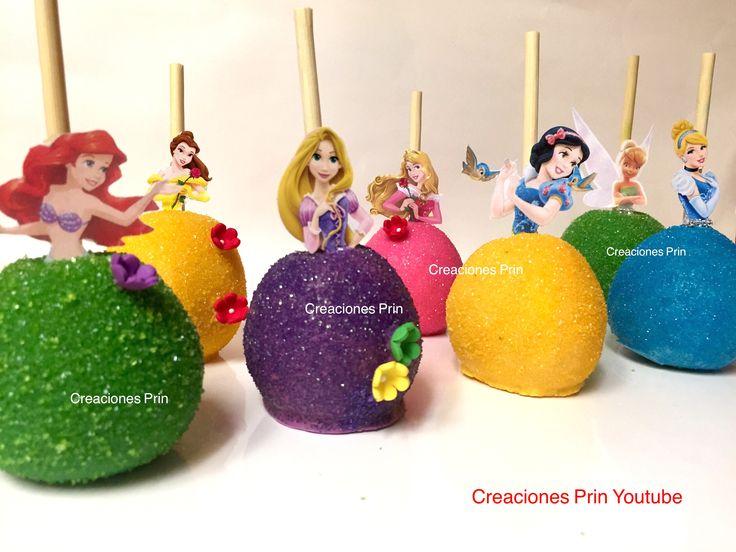 Manzanas de princesas con chocolate