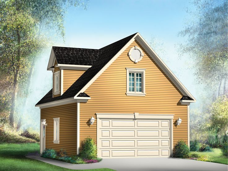 Garage Plan With Loft 072g 0016 Pinteres