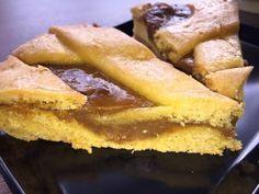 Pasta frola de dulce de leche. Ingredientes:350 grs de harina1 cucharadita de polvo de hornear1 pizca de sal175 grs de manteca100 grs de azúcarralladura de limón a gusto1