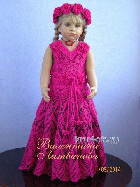 Детские вязаные платья крючком валентины литвиновой