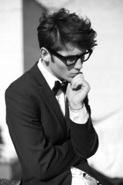 the glasses and bow tie are great on him. But I am