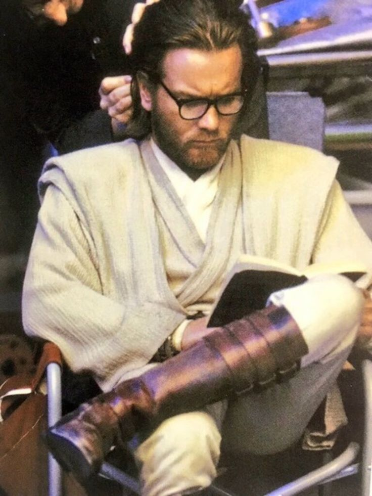 Going through his notes on his and Anakin's adventures
