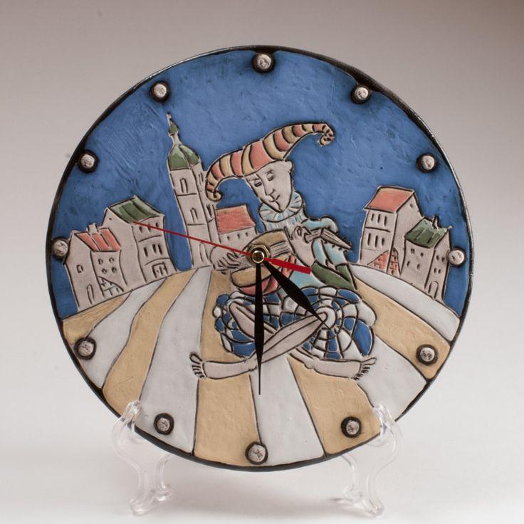 """Wall clock """"Minstrel"""" by KuklaArt on Etsy"""