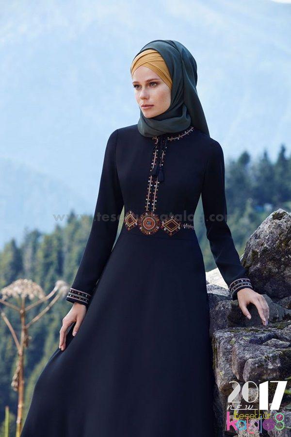 Tuğba Elbise Siyah Uzun
