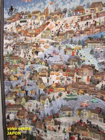 Quilt by Yoko Sekita from Quilt Expo in Beaujolais