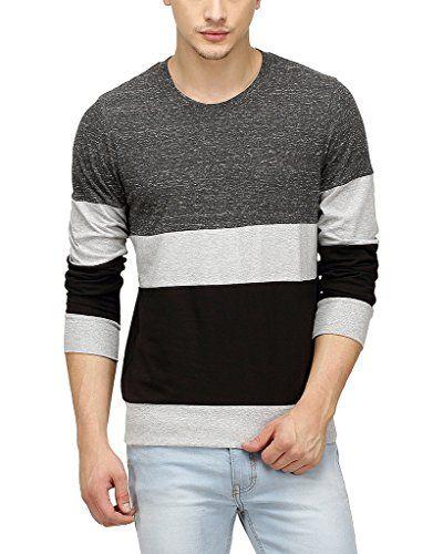 Campus Sutra Men Tri Colour Full Sleeve T-Shirt