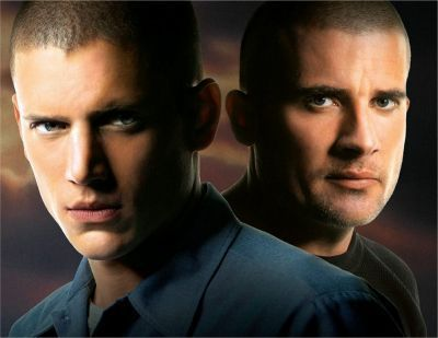 Prison Break with sexy Wentworth Miller as Michael Scofield and Dominic Purcell as Lincoln Burrows.  Loved the series, but stopped watching during season 3, I think they just did not want to stop a successful series, but the story line was finished in my opinion. Aired from 2005-2009. Remember creepy Theodore Bagwell alias T-bag, what a brilliant role played by Robert Knepper