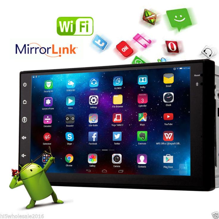 HD 7 Android 4.4 3G-WIFI 2Din Car Stereo Radio In Dash PC Tablet GPS NavCamera