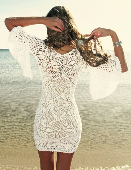 White Lace Dress... This is on my new body new clothes wish list