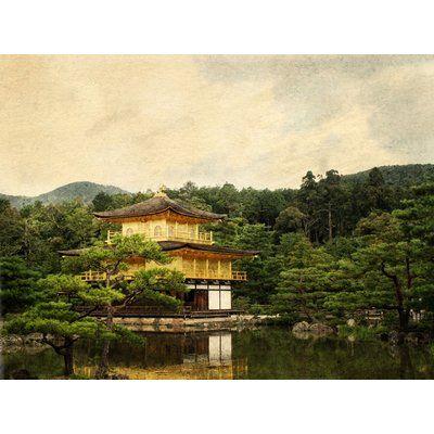 Alcott Hill 'Kinkaku-ji Temple of the Golden Pavilion' Photographic Print on Canvas