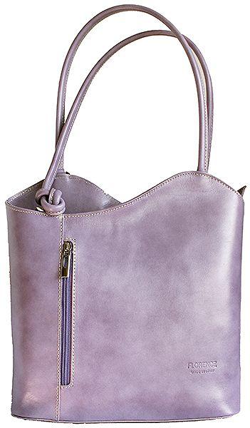 Multi-Way Lilac Leather Shoulder Bag/Backpack