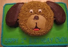 puppy shaped birthday cake - Google Search