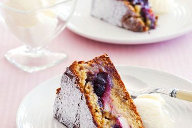 Blueberry & Apple Cake recipe, NZ Woman's Weekly – You can use fresh or frozen blueberries or for a twist, try using rhubarb instead of blueberries. – foodhub.co.nz