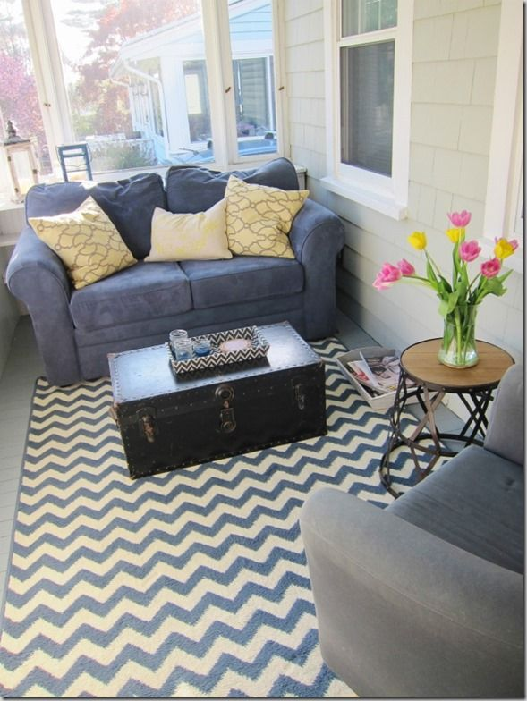 SUNROOM (small cozy sun porch space that you will actually want to use)