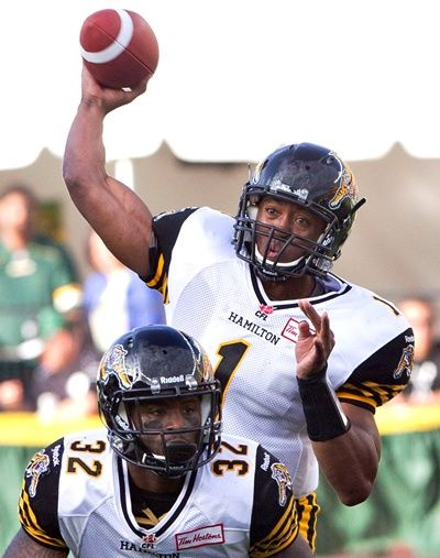 Henry Burris Hamilton Tigercats QB just passed the 50000 yard mark in his career against his former team Calgary September 13,2013