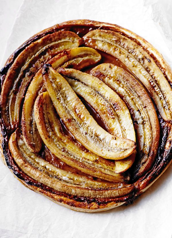 Toffee-banana tart: Banana and toffee is a classic flavour combination. Try it in this impressive-looking, delicious, sticky tart and serve it with a decadent toffee cream for extra indulgence.